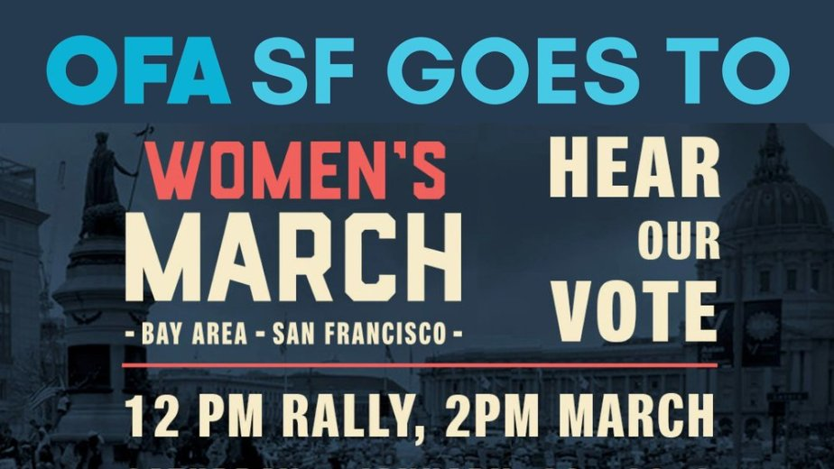 OFA SF members served as Peace Ambassadors at this march involving more than 50,000 attendees in January 2018.