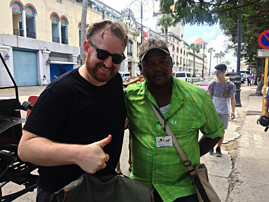 One of the best tour guides in Havana at the Plaza de San Francisco. He told us families were not allowed to openly celebrate Christmas until 1998!