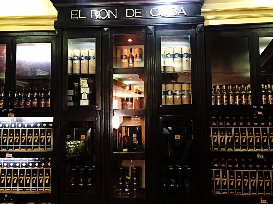 Inside the famous shop in the Museo del Ron. Next to it is one of the most well known bars in the city Dos Hermanos.
