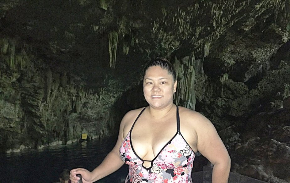 Swimming inside the Saturno Cave in Varadero. Best feeling in the world in 100 degree weather!
