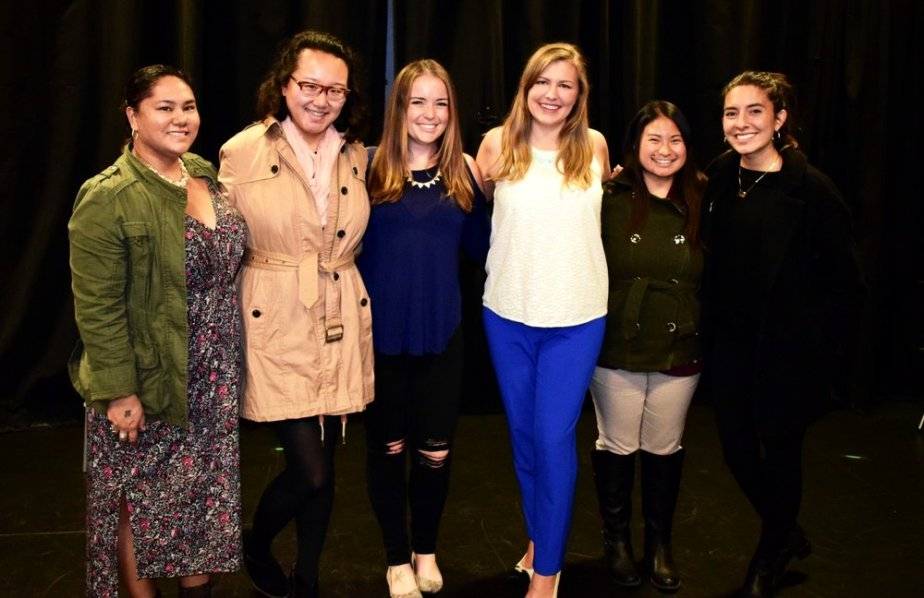 The Organizing for Action San Francisco Team (from left): Leila Harmon (me), Alisha Qiu, Emily Boyd, Logan Evasco, Angelica Ramirez; Hospitality House Development Manager Tess Davis