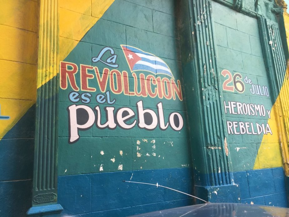 There's no denying the rich history and complicated political dissonance that deeply impact the people of Cuba. This mural was painted in recognition of the late Fidel Castro when he was freed from prison during the 26th of July movement.